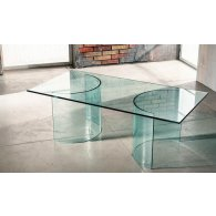 Crystal table with round base.