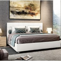 Bed, in eco-leather. RoRy Double .
