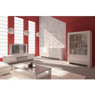 Composition living. Color High Gloss White.